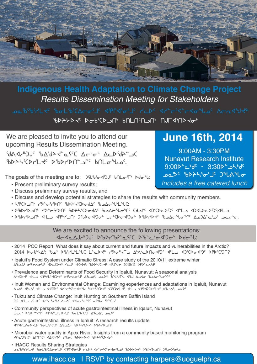 IHACC Iqaluit Meeting 2014