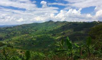 The beautiful hills of Kanungu District