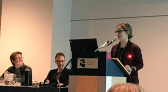 Stephanie Masina presenting her research - Sherilee Harper.